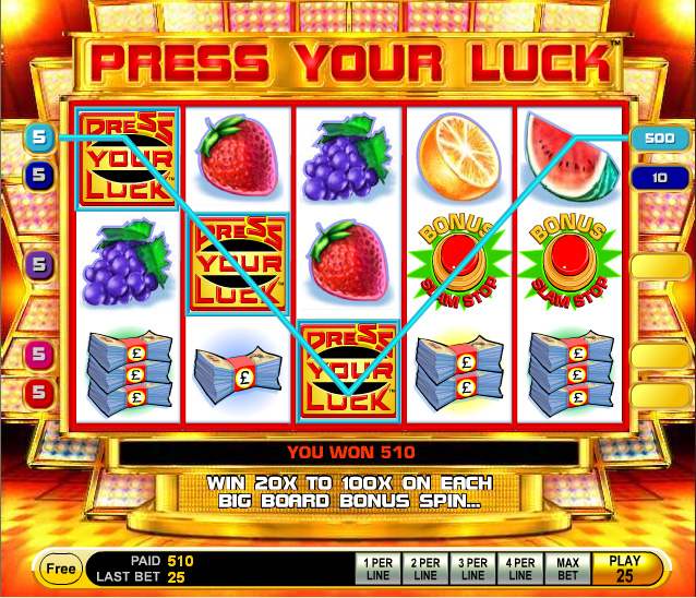 Press Your Luck Slot Machine Online Free