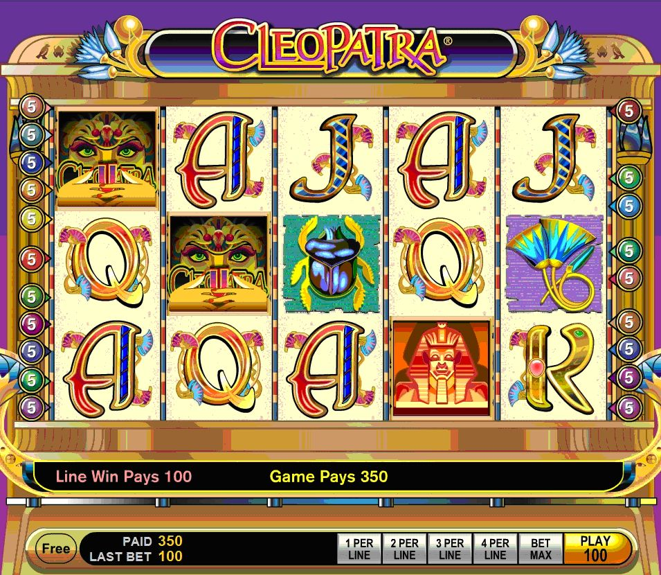 slots machines free games cleopatra